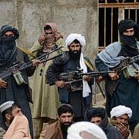 אנשי טאליבן באפגניסטן, 2015 (צילום: AP Photo)