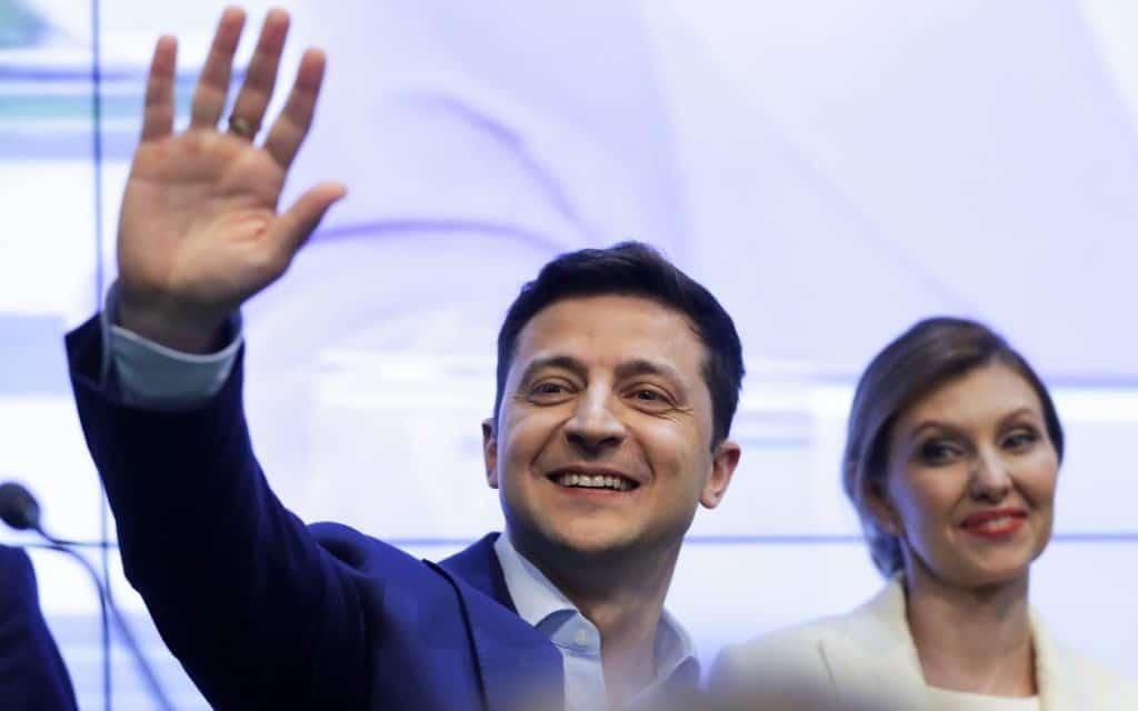וולודימיר זלנסקי, הזוכה בבחירות לנשיאות אוקראינה (צילום: AP Photo / Sergei Grits)