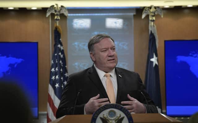 מזכיר המדינה האמריקאי מייק פומפאו