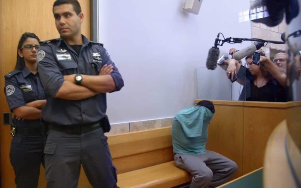 אמל אבו סאלח בבית המשפט ב-2015 (צילום: באסל עווידאת/פלאש90)