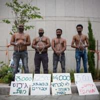 הפגנה נגד תכנית הגירוש של נתניהו ב-2018 (צילום: Miriam Alster/Flash90)