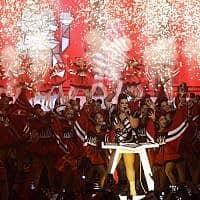 נטע ברזילי מופיעה בחצי גמר האירוויזיון ב-14 למאי 2019 (צילום: סבסטיאן שיינר / AP)