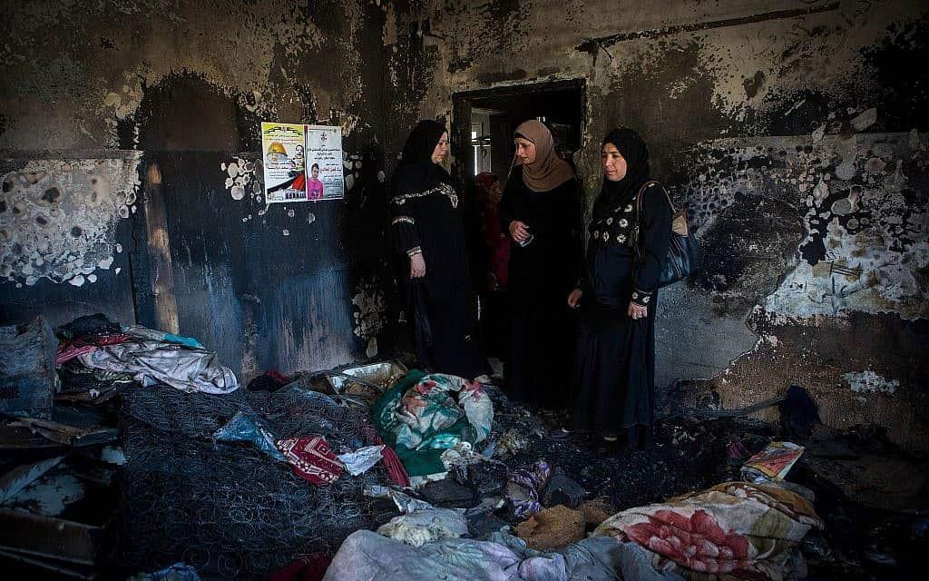 זירת הרצח בכפר דומא (צילום: מרים אלסטר / פלאש 90)