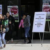 חיסונים נגד חצבת בניו יורק (צילום: סת' וניג, AP)
