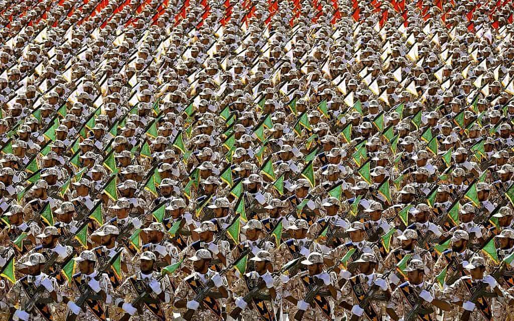 משמרות המהפכה (צילום: Ebrahim Noroozi AP)