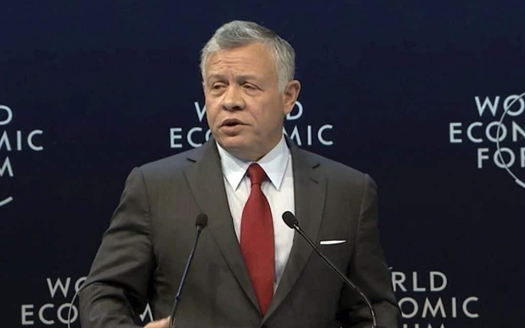 עבדאללה מלך ירדן (צילום: WEF ו-AP)