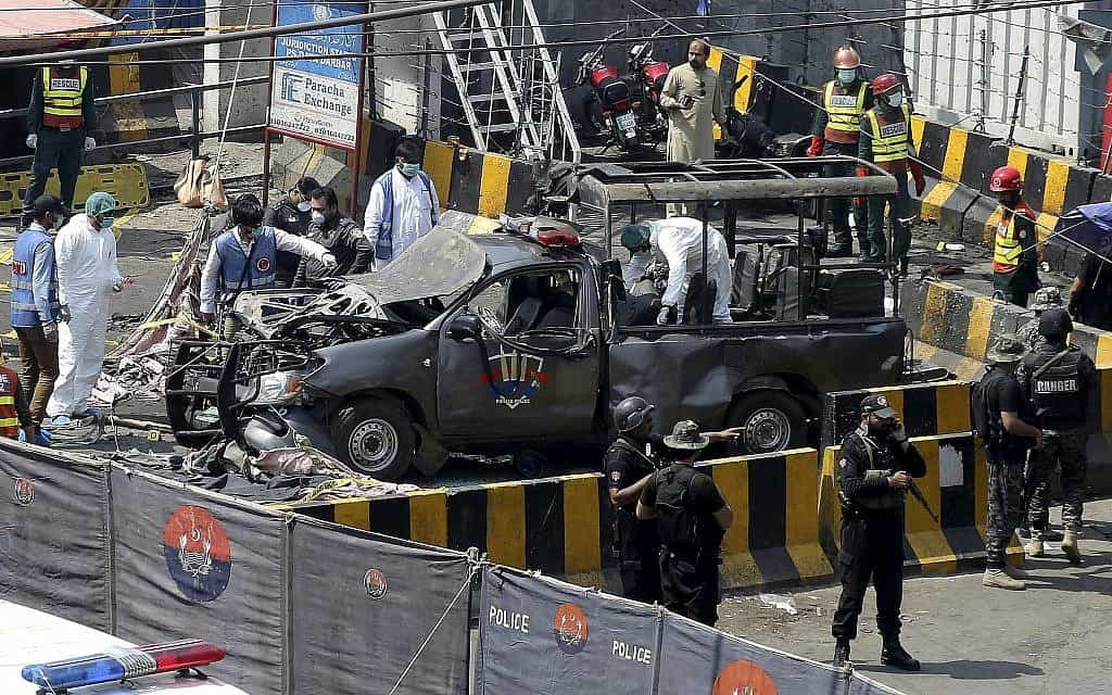 פיגוע בפקיסטן (צילום: זהיר בבאר, AP)