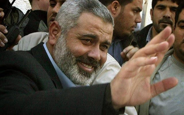 איסמעיל הנייה, ראש הלשכה המדינית של חמאס (צילום: AP Photo. Hatem Moussa)