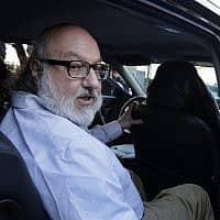 ג'ונתן פולארד יוצא מהכלא בניו יורק, 2015 (צילום: AP Photo/Mark Lennihan)
