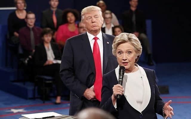 הילרי קלינטון ודונלד טראמפ – העימות הנשיאותי (צילום: Rick T. Wilking/Pool via AP)