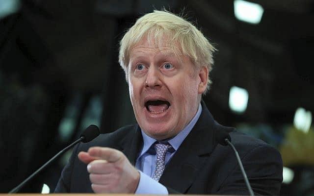 בוריס ג׳ונסון. כנראה ראש הממשלה הבא של בריטניה (צילום: Peter Byrne/PA via AP)