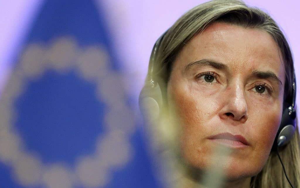 דוברת האיחוד האירופי פדריקה מוגריני (צילום: AP Photo/Francisco Seco)