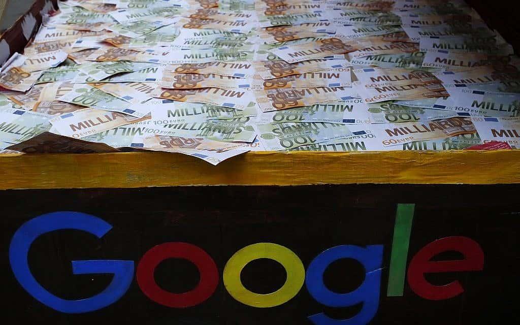 מחאה נגד תשלומי המס הנמוכים של גוגל בצרפת, ינואר 2019