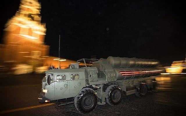 מערכת ה-S400 הרוסית (צילום: AP Photo/Pavel Golovkin)