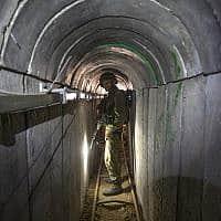 מנהרה של חמאס מעזה לישראל, 2014 (צילום: AP Photo/Jack Guez, Pool)
