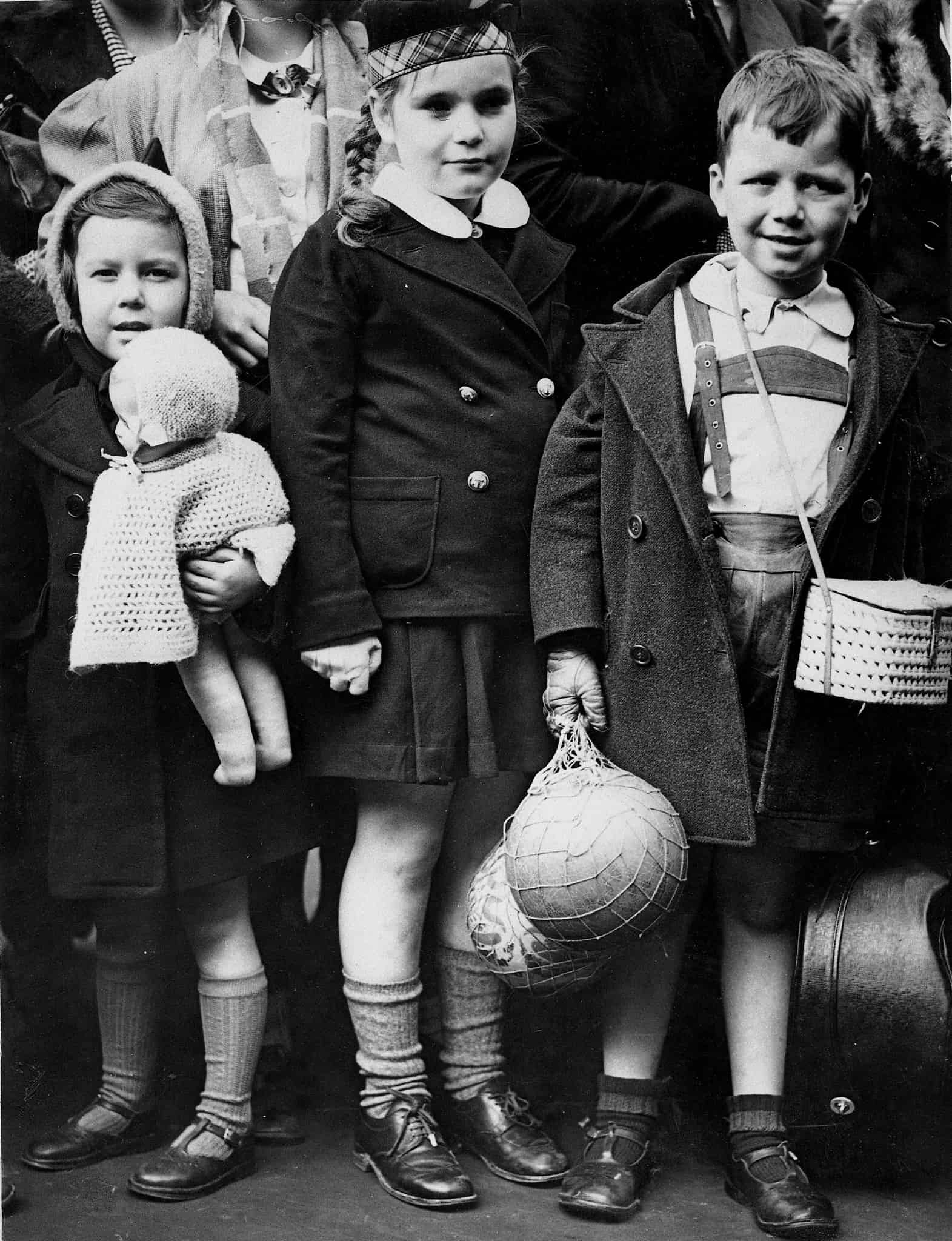 פליטים הולנדיים בלונדון, 1940 (צילום: AP Photo)