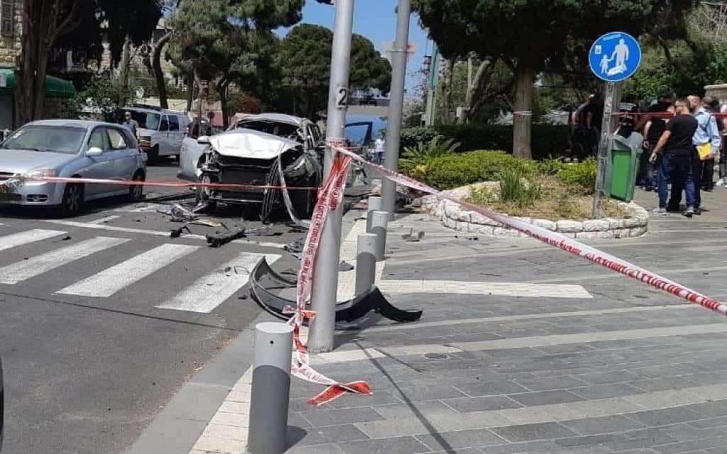 הפיצוץ בחיפה (צילום: משטרת ישראל)