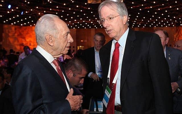 דניס רוס ושמעון פרס, 2011 (צילום: Yossi Zamir/Flash 90)