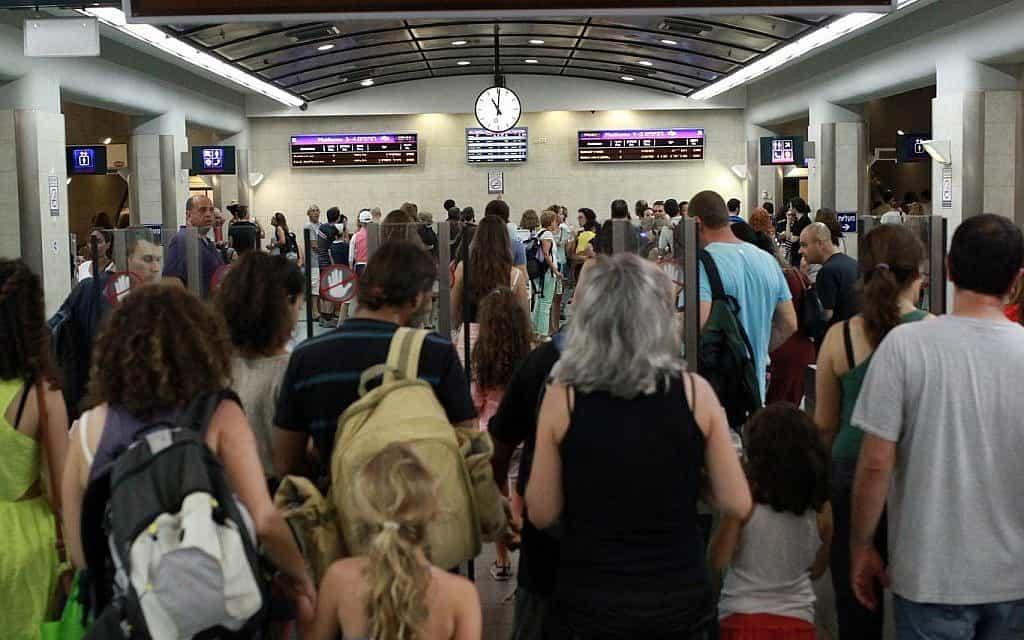 שביתה ברכבת ישראל (צילום: Flash90)