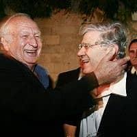 השופטים אהרון ברק (מימין) ומישאל חשין (צילום: פלאש 90)