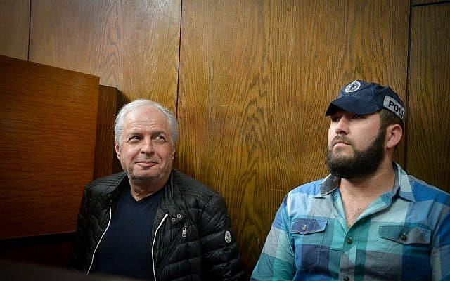 שאול אלוביץ, מבעלי בזק, בעת הארכת מעצרו בתיק 4000 בפברואר 2018 (צילום: פלאש90)