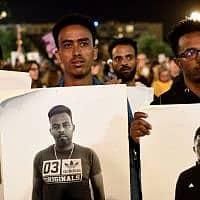 הפגנה נגד גירוש מבקשי המקלט (צילום: Gili Yaari/Flash90)