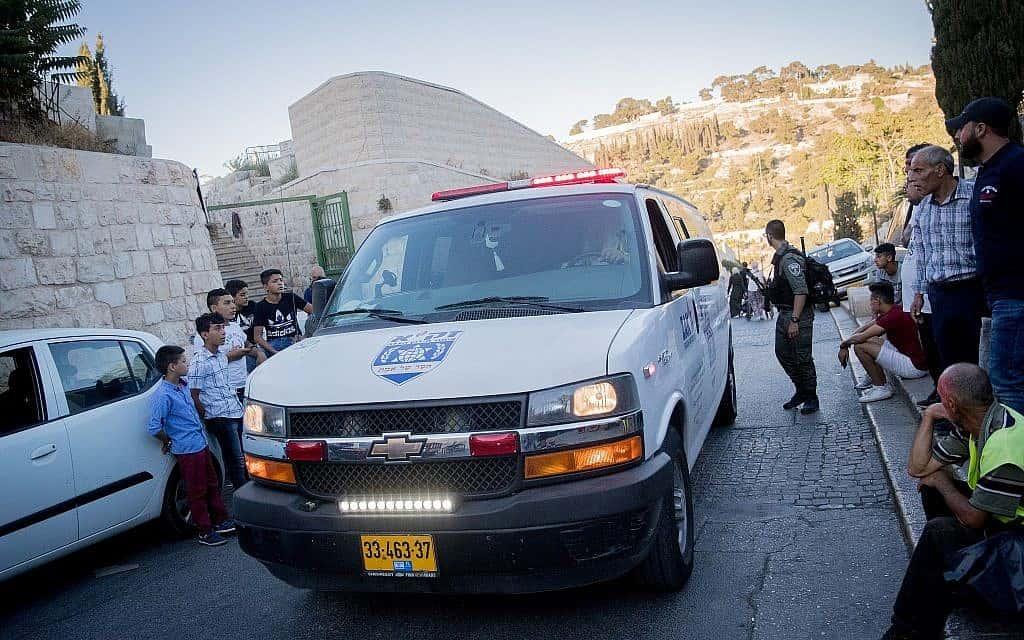 כוחות ביטחון בעיר העתיקה בירושלים לאחר פיגוע (צילום: Yonatan Sindel/Flash90)