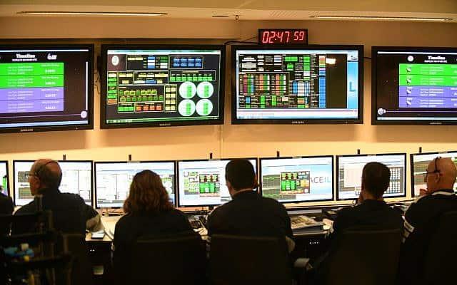 """חדר המצב בשיגור """"בראשית"""" (צילום: תומר נויברג/פלאש 90)"""