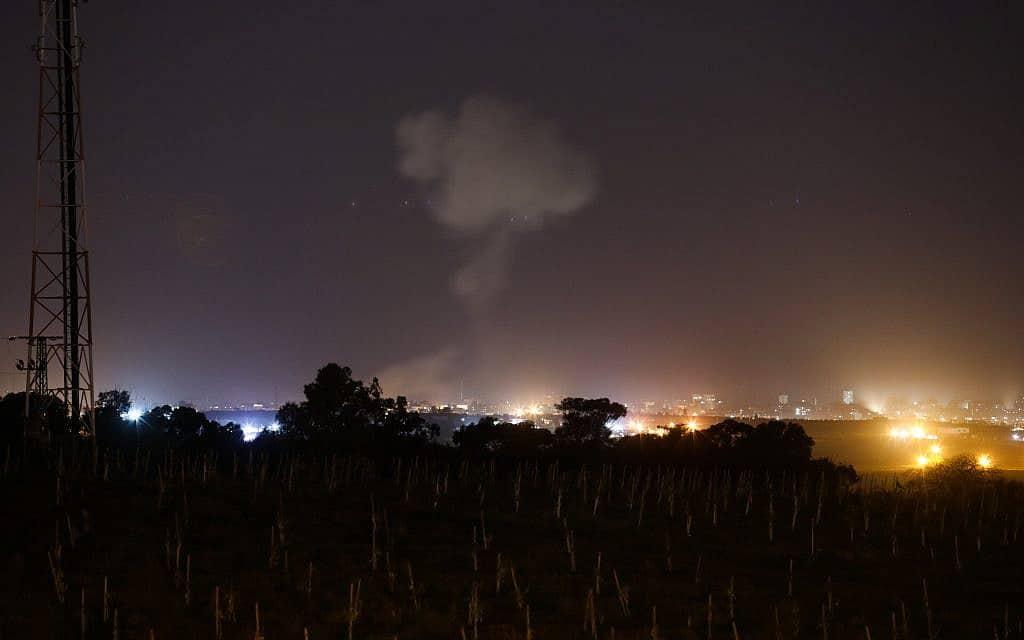 תקיפת חיל האוויר ברצועה (צילום: הדס פארוש Flash90)