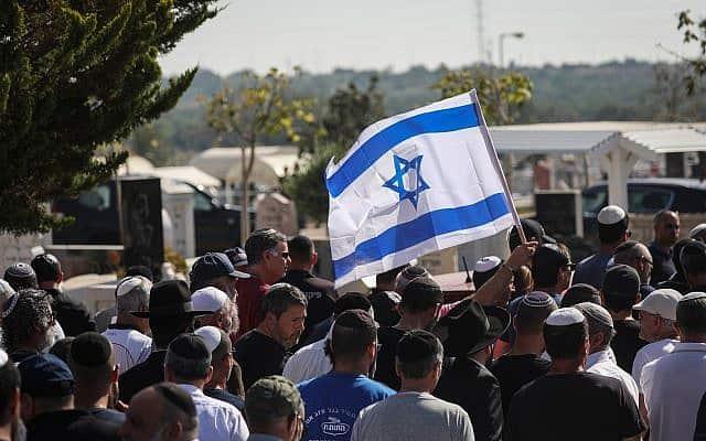לווייתו של משה אגדי (צילום: Noam Revkin Fenton/Flash90)