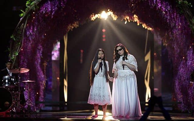 להקת שלווה באירוויזיון 2019 בתל אביב (צילום: Hadas Parush/Flash90)