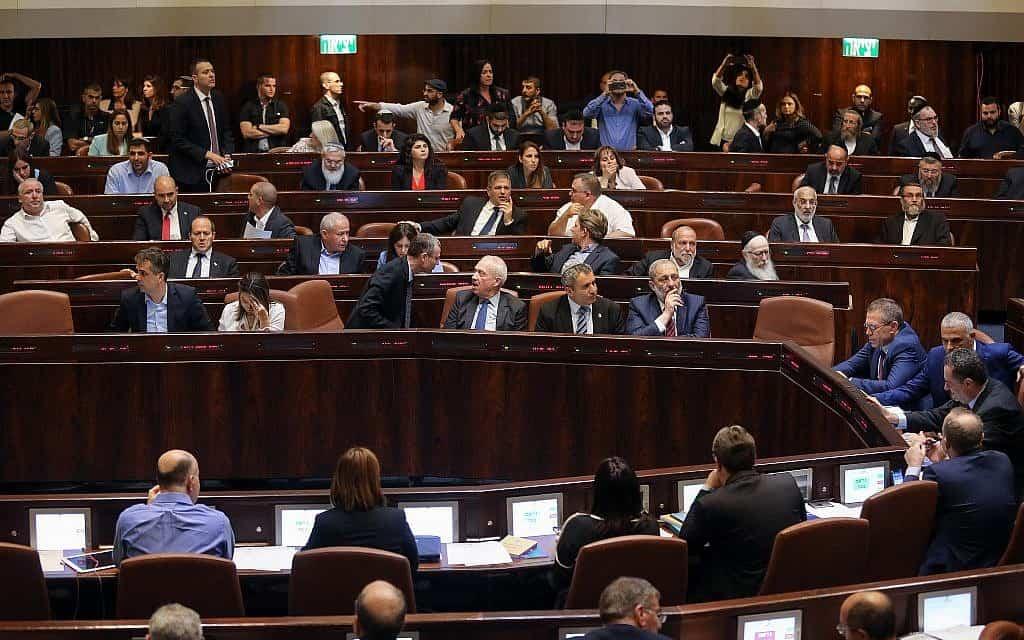 מליאת הכנסת בהצבעה על הקדמת הבחירות (צילום: הדס פרוש/פלאש90)