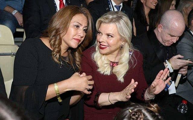 שרה נתניהו והגברת הראשונה של גואטמלה בגמר האירוויזיון בתל אביב (צילום: איגור אוסדצ׳י)