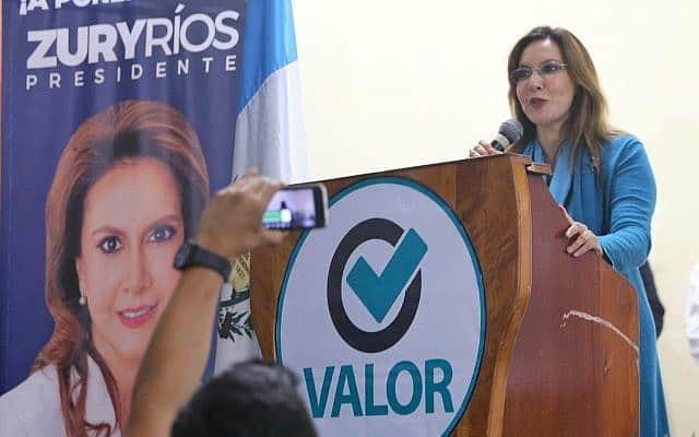 זורי ריוס, בתו של הרודן הצבאי לשעבר של המדינה, ומועמדת לנשיאות גווטמאלה (צילום: courtesy)