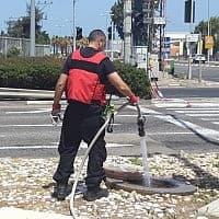 הצומת בה התגלתה דליפת הגז (צילום: המשרד להגנת הסביבה)