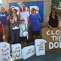 מחאה במפעל דור כמיקלים ב-29 למאי 2019, לאחר אירוע דליפת הגז (צילום: מגמה ירוקה / קואליציה לבריאות הציבור)