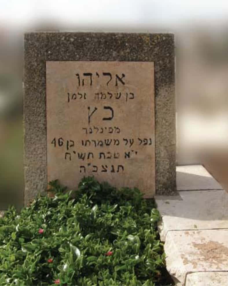 קברו של אליאס כץ ברחובות (צילום: עודד ישראלי)