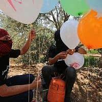 טרור הבלונים מרצועת עזה (צילום: חסן ג'די, פלאש 90)