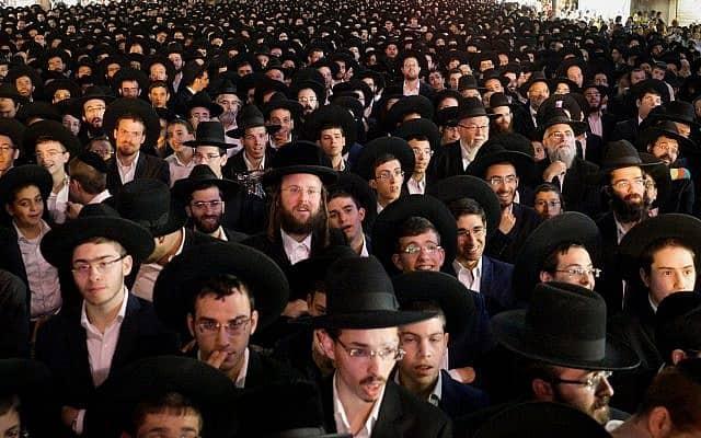 אסיפה פוליטית בבני ברק לקראת הבחירות לרשויות המקומיות ב-2018 (צילום: Photo by Yehuda Haim/Flash90)