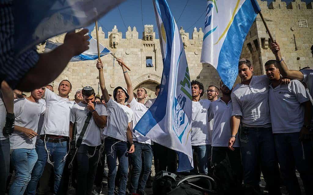 צעדת הדגלים ביום ירושלים, 2 ליוני 2019 (צילום: הדס פרוש / פלאש 90)