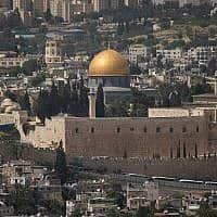 מסגד אל אקצא בהר הבית בירושלים צילם יונתן סינדל פלאש 90 (צילום: יונתן זינדל/פלאש 90)