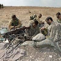 חיילים מחטיבת גולני במהלך תרגיל לעמ