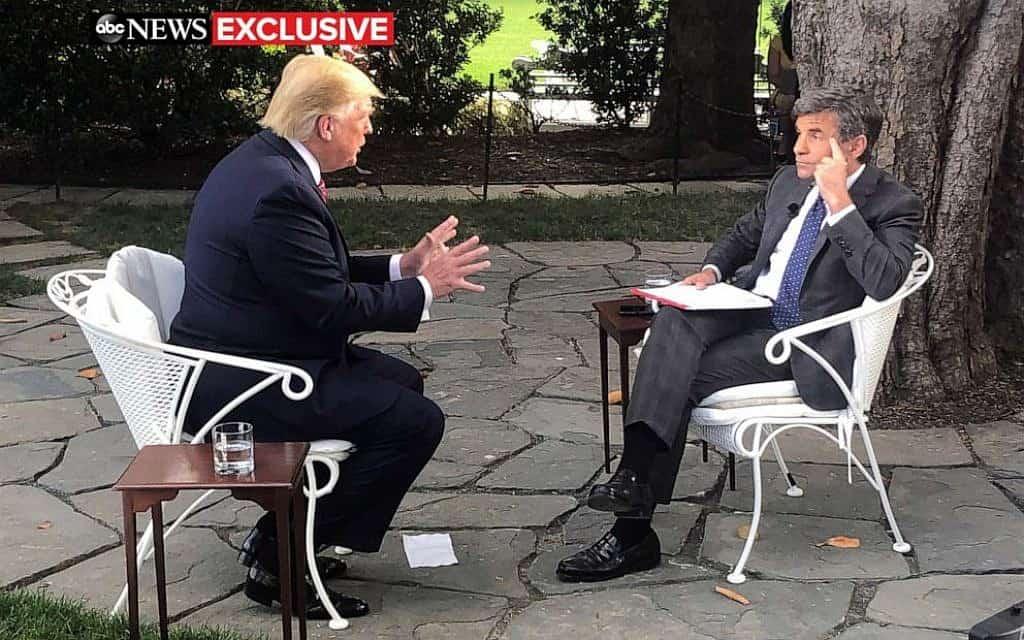 טראמפ בראיון ל-ABC (צילום: ABC News)