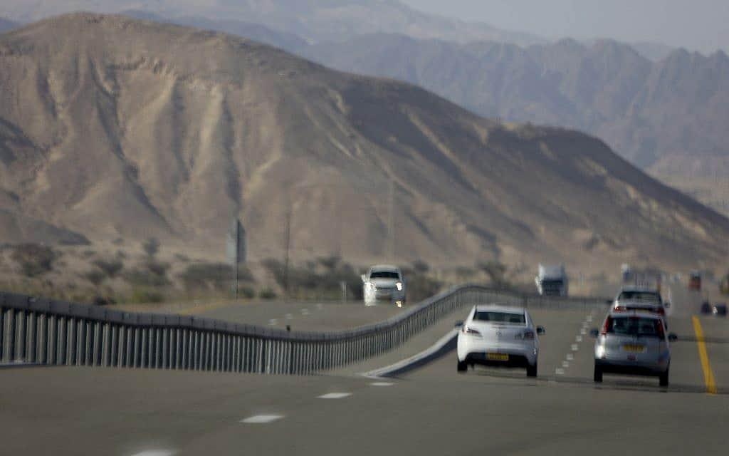 כביש הערבה (צילום: נתי שוחט / פלאש 90)