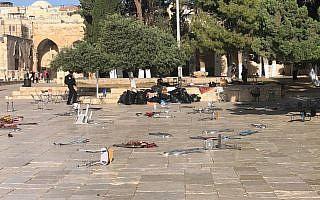 מהומה בהר הבית (צילום: משטרת ישראל)