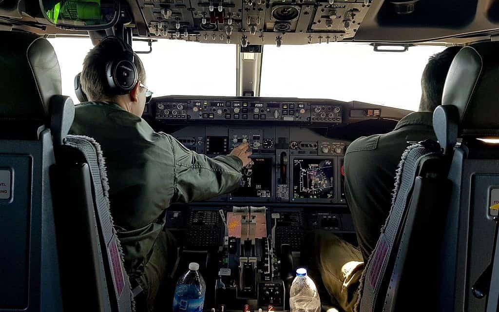 מטוס פוסידון של חיל האוויר האמריקני (צילום: AP)