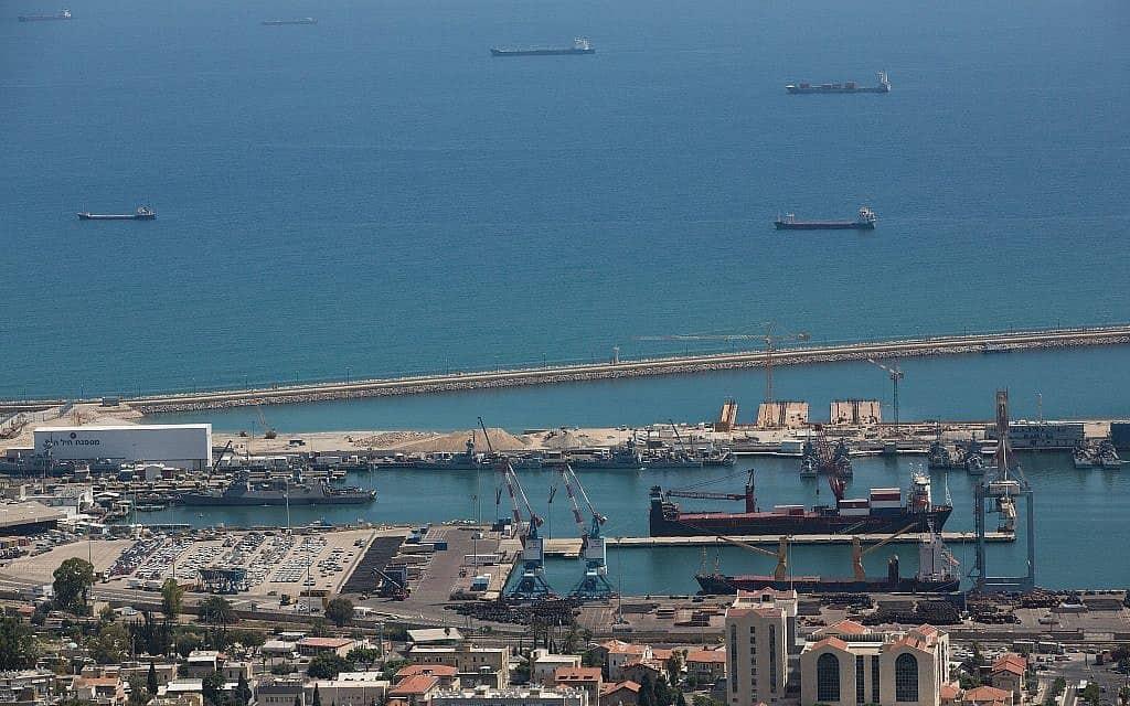 נמל חיפה, צילום אילוסטרציה (צילום: מרים אלסטר, פלאש 90)