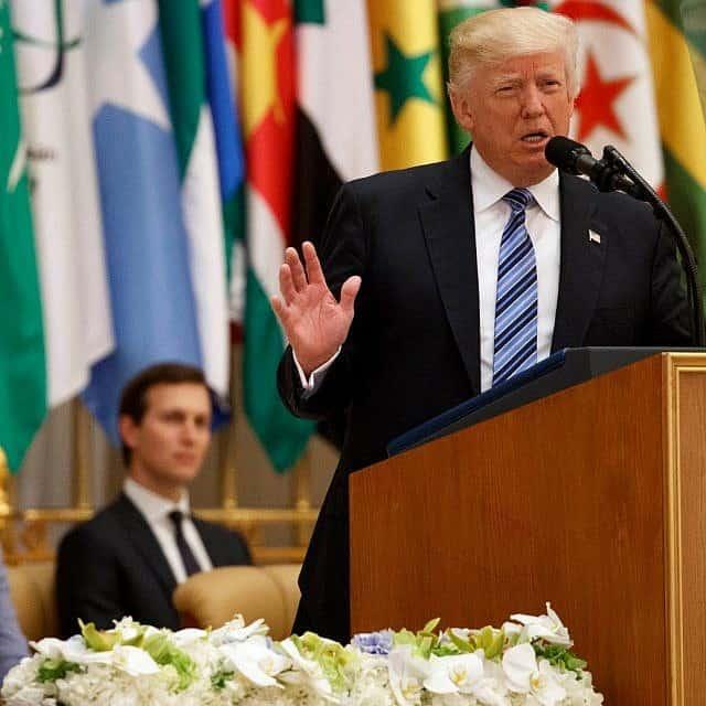 ג'ראד קושנר ודונלד טראמפ (צילום: AP Photo/Evan Vucci)