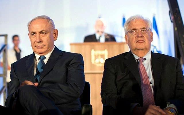 דיוויד פרידמן ובנימין נתניהו (צילום: Abir Sultan/Pool Photo via AP)