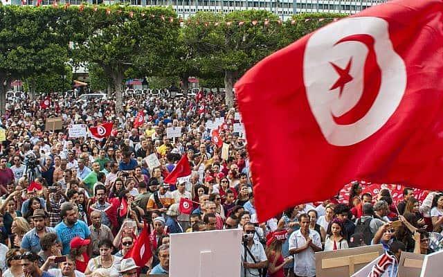 הפגנה לשוויון זכויות מגדרי בתוניסיה, 2018 (צילום: AP Photo/Hassene Dridi)